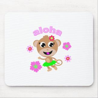 pantalla del mono de la hawaiana tapete de raton