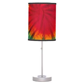 Pantalla del teñido anudado lámpara de escritorio