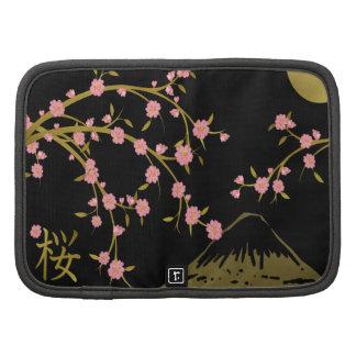 Pantalla rosada del japonés del negro del oro de planificadores