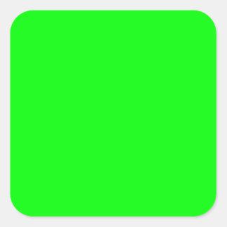 Pantalla verde invisible pegatina cuadrada