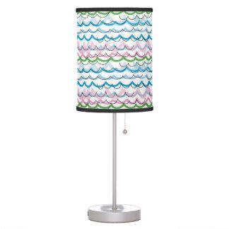 Pantalla y soporte del modelo del verano de la pla lámpara de mesilla de noche