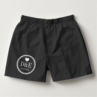 Pantalones cortos y escritos de encargo del calzoncillos