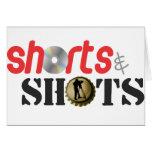 Pantalones cortos y tiros tarjeta