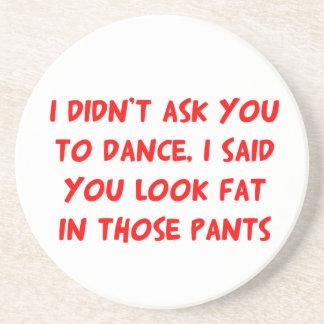 Pantalones de la grasa de la danza posavasos para bebidas