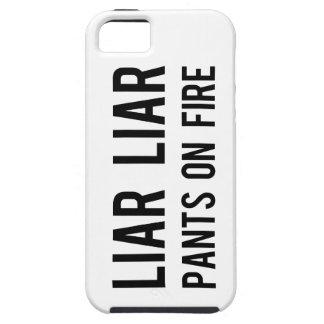 Pantalones del mentiroso del mentiroso en el fuego funda para iPhone SE/5/5s
