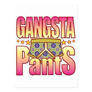 Pantalones floridos de Gangsta Tarjetas Postales