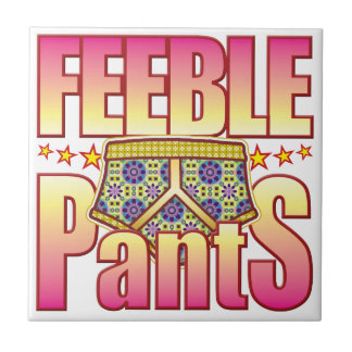 Pantalones floridos débiles azulejos ceramicos