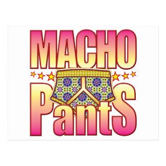 Pantalones floridos machistas tarjetas postales