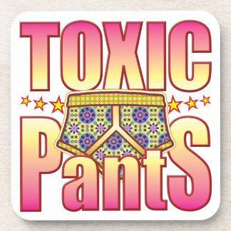 Pantalones floridos tóxicos posavasos de bebidas