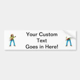 Pantalones gráficos eléctricos del azul de la imag pegatina para auto