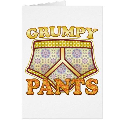 Pantalones gruñones tarjeta de felicitación