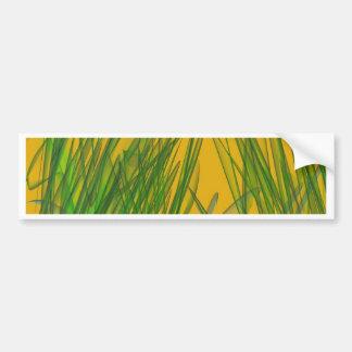 Pantano amarillo pegatina de parachoque