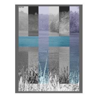 Pantano azul tarjeta postal