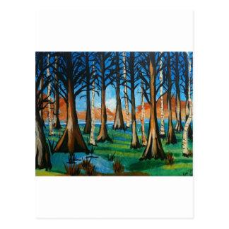 Pantano colorido tarjetas postales