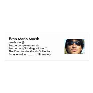 Pantano de Evan Mario, alcance m… Plantilla De Tarjeta De Visita