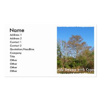 Pantano de la Florida Cypress con los cielos azule Tarjeta De Visita