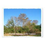Pantano de la Florida Cypress con los cielos Invitaciones Personalizada