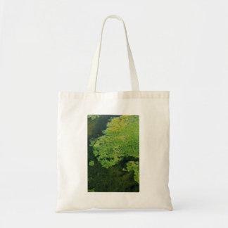 Pantano de las algas verdes bolsa tela barata
