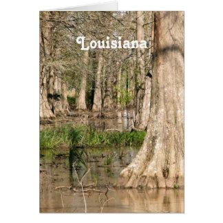 Pantano de Luisiana Tarjeta Pequeña
