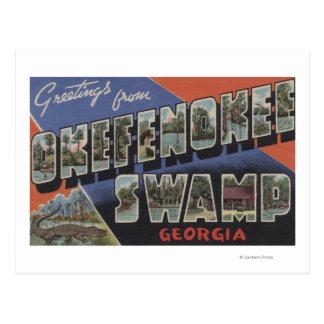 Pantano de Okefenokee, Georgia - escenas grandes Tarjeta Postal