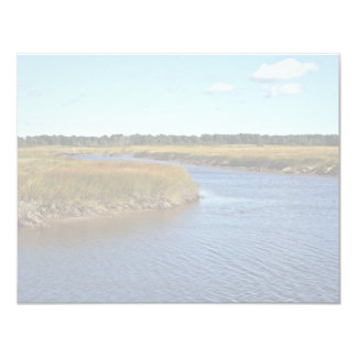 Pantano de Scarborough (agua salada) Maine Invitación 10,8 X 13,9 Cm