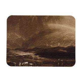 Pantano de turba, Escocia, grabada por George Clin Imán Rectangular