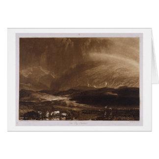 Pantano de turba, Escocia, grabada por George Clin Tarjeta De Felicitación