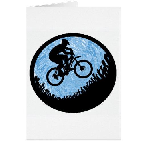 Pantano del azul de la bici felicitaciones