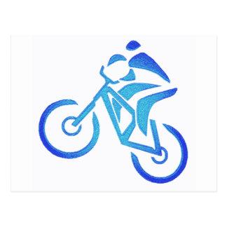 Pantano del azul de la bici postal