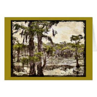 Pantano del lago Caddo, Luisiana Tarjeta De Felicitación