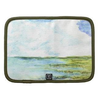 Pantano y cielo de marea - lápiz de la acuarela organizadores
