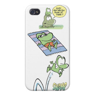 Pantanos Mort la rana iPhone 4 Cárcasas