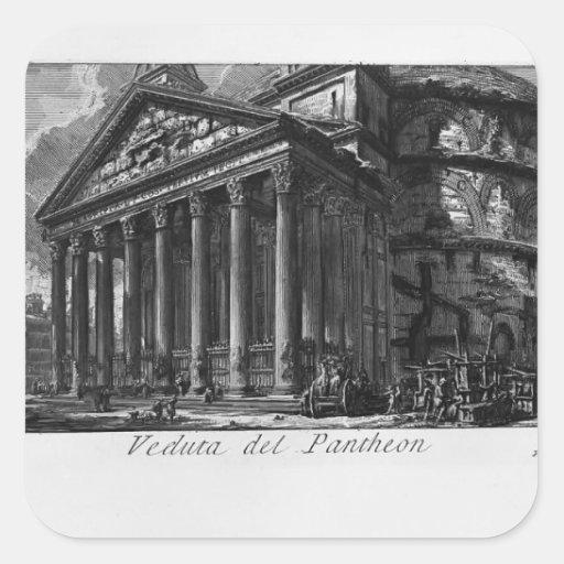 Panteón de Juan Piranesi- Colcomanias Cuadradases