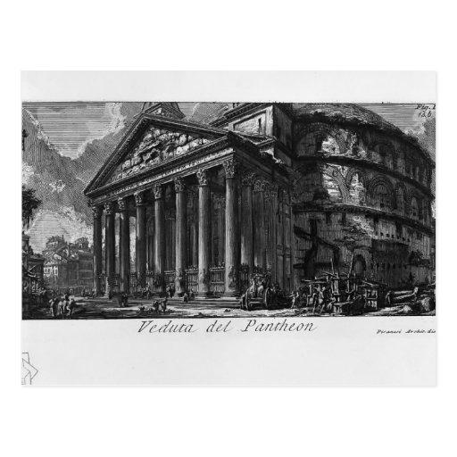 Panteón de Juan Piranesi- Postal