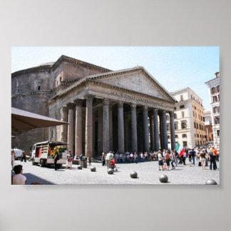 Panteón, Roma - verano, 2009 Posters