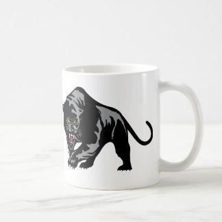 Pantera de vagabundeo tazas de café