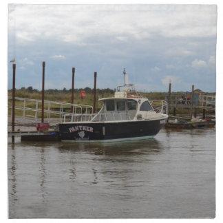 Pantera del barco de motor en Southwold Servilletas De Papel