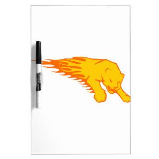Pantera en llamas pizarra