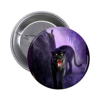 Pantera mortal animal abstracta pin