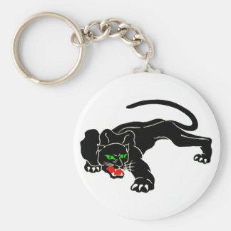 Pantera negra - CAT grande Llavero Redondo Tipo Pin