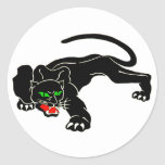 Pantera negra - CAT grande Pegatina Redonda