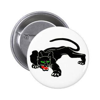 Pantera negra - CAT grande Pin Redondo 5 Cm
