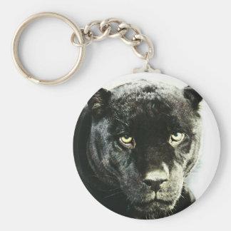 Pantera negra de Jaguar Llavero Redondo Tipo Pin
