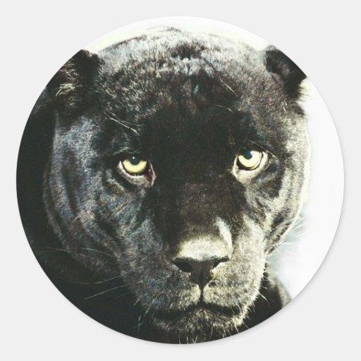 Pantera negra de Jaguar Pegatina Redonda