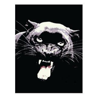 Pantera negra de Jaguar Postal