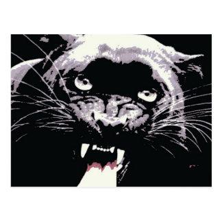 Pantera negra de Jaguar Tarjeta Postal
