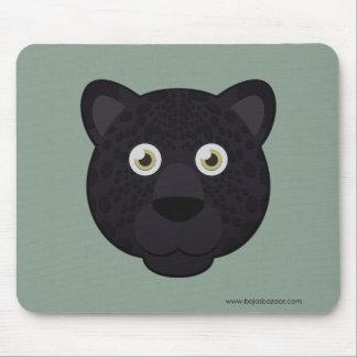 Pantera negra de papel tapete de ratón