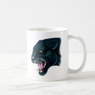 Pantera negra hermosa taza
