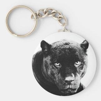 Pantera negra Jaguar Llavero Redondo Tipo Pin