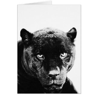 Pantera negra Jaguar Tarjeta De Felicitación